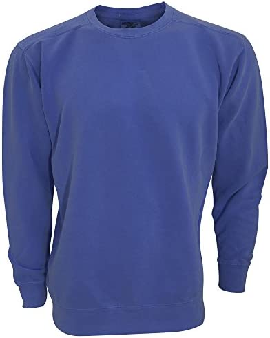 3XL China Blue Comfort Colors Adults Unisex Crew Neck Sweatshirt