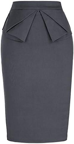 PrettyWorld Vintage Dress Women's Slim Fit Midi Pencil Skirts for Office Wear