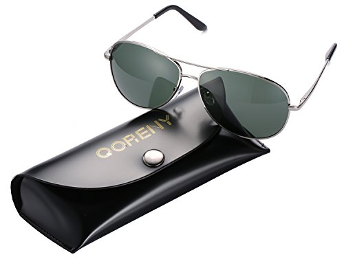 Fashion Men Sunglasses Big Frame Unisex Eyewear New 2017 (silver frame/blackish green lens, as - 2017 Sunglasses Celebrity