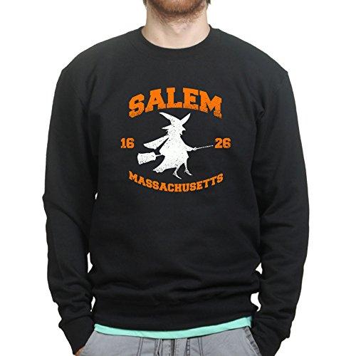 Mens Salem Witch College Halloween Costume Sweatshirt 2XL Black (Salem Costume)