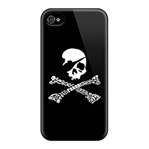 (BHH5865NGth)durable Protection Case Cover For Iphone 4/4s(pirate)