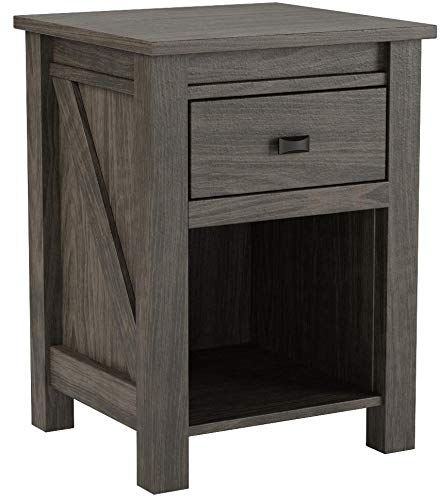 Ameriwood Home 5683213COM Farmington, Nightstand, Weathered Oak
