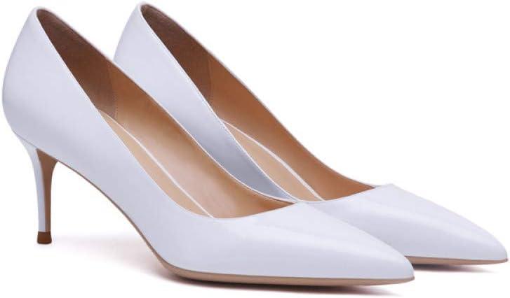 SHOFLKQCS Pump High Heel Dames Wit Single Schoenen Zwart Wit Rood High Heels Rubber Maat 5cm Heel Height