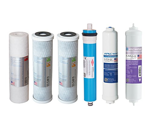 APEC FILTER-MAX-PH US MADE 90 GPD Complete Replacement Set for ULTIMATE Series Alkaline Reverse Osmosis Water Filter System by APEC Water Systems
