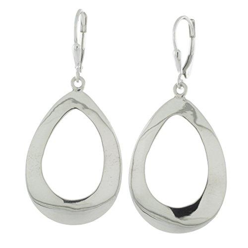 made Cutout Leverback Earrings, Teardrop ()