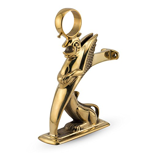 Griffin Bar Rail Bracket - Polished Brass - 2