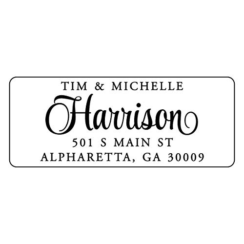 Return Address Labels - Personalized Stickers with Your Information - 250 Adhesive Peel and Stick Labels
