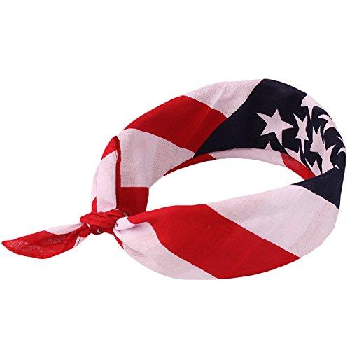 American Flag Bandana Headband Patriotic