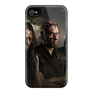 Iphone 4/4s Kcv2322iOSD Support Personal Customs High Resolution Korpiklaani Band Image Shockproof Hard Phone Cases -EricHowe