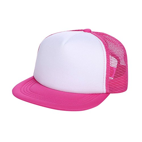 UCQueen Baby Girls Boys Toddler Cap Trucker Hat Caps Childrens Infant Kids Hats Summer Breathable Hat Show Kids Hat Hot Pink