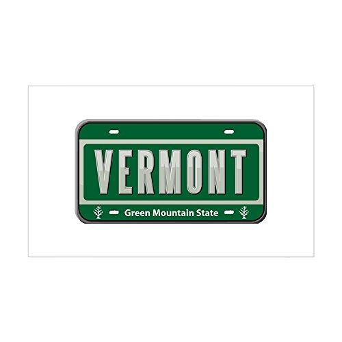 CafePress - Vermont Plate Rectangle Sticker - Rectangle Bumper Sticker Car Decal Bumper Bib