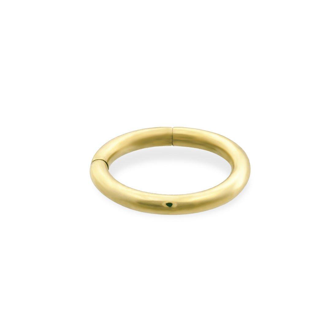 14K Gold Segment Ring, Gauge: 16 (1.2Mm), 14K Yellow Gold, 3/8'' (10Mm)