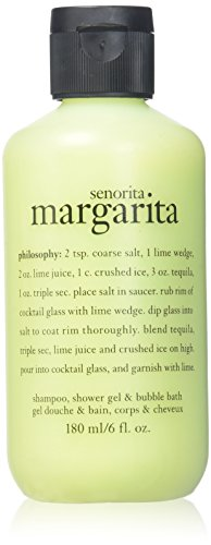Philosophy Senorita Margarita Shampoo, Shower Gel Bubble Bath 6 oz