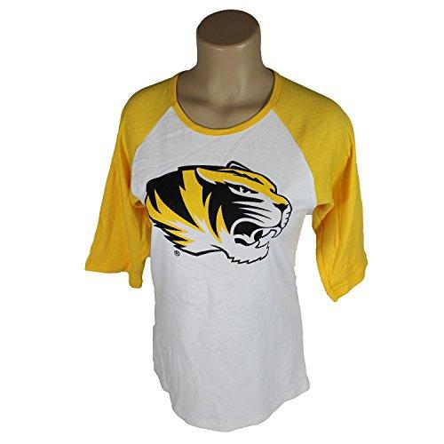 Glitter Gear Missouri Tigers Official NCAA 3/4 Sleeved Raglan Tee W/Logo XXL (Tigers Glitter Gear)