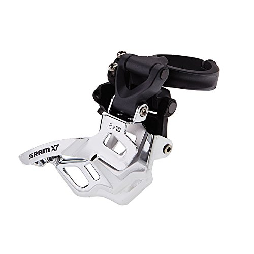 SRAM X7 Bicycle Front Derailleur with 2 x 10 High-Clamp 318/349 Compact Bottom Pull 39 Max