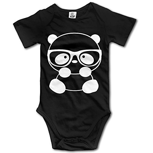 Nerd Costume With Overalls (Infant Baby Clothes Panda Nerd With Glasses Short-Sleeveless Romper Bodysuit Jumpsuit Baby Clothes Outfits 6 M)