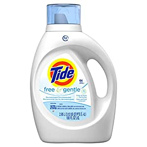 amazon com tide free gentle he turbo clean liquid laundry