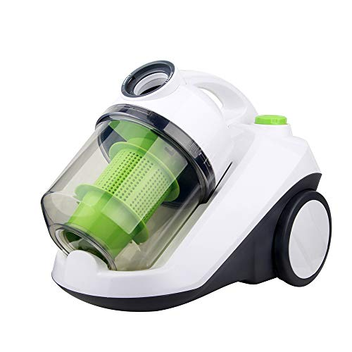 TQZY Bagless Cylinder Vacuum Cleaner,1420 W High-Suction, 5.2 Meter Operating Radius,Suitable for Hard Floor and Carpet (Red,Green),Green