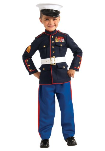 Marine Halloween Costumes (Young Heroes Marine Dress Blues Costume, Large)