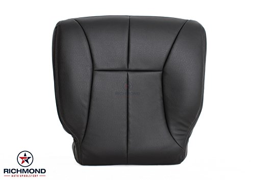 Richmond Auto Upholstery 1999 Dodge Ram 1500 SLT Laramie Driver Side Bottom Replacement Leather Seat Cover, Dark Gray ()