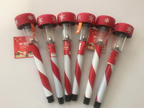 Candy Cane Solar Light Stakes in US - 6