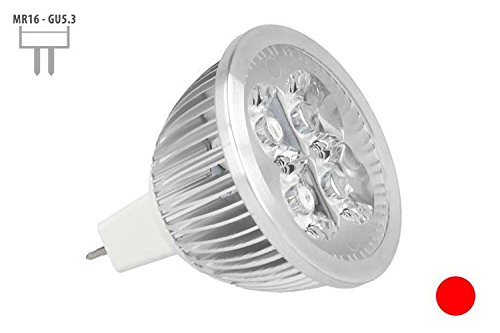 Lámpara Bombilla LED MR16, GU5,3 Dicroica 12 V DC, 1 X 4W 4 W, Color Negro y Rojo: Amazon.es: Iluminación