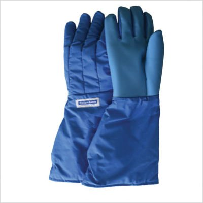 National Safety Apparel Small Blue SaferGrip 15'' Mid-Arm Length Waterproof Cryogenic Gloves by National Safety Apparel Inc (Image #1)