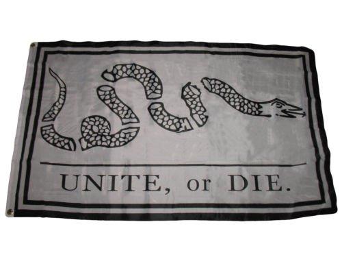 Moon 3x5 Unite or Die Benjamin Franklin Snake Premium Flag 3