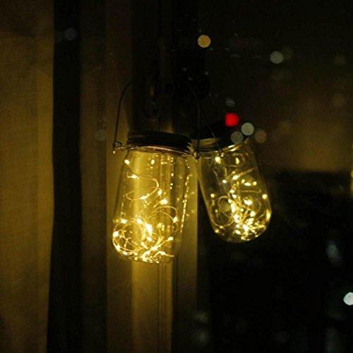 Lumière Solaire,Sensail Mason Jar Lumières Guirlande De ...