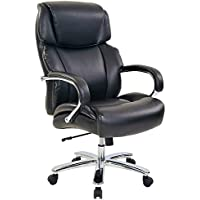 Realspace Brevington Bonded Leather Big & Tall High-Back Chair