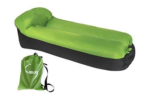 nge chair, airsofa, inflatable lounger, ideal for music festival and camping, inflatable air lounger.-Green ()