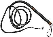 SZCO Supplies Hand Made Leather Bull Whip, 9-Feet