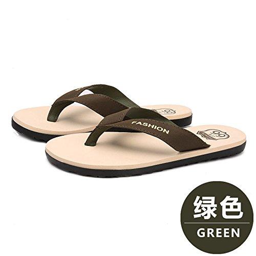 Xing Lin Sandalias De Hombre Verano Nuevo MenS Flip Flops Zapatillas Antideslizantes Pizca Sandalias De Playa Casual Zapatos De Gran Tamaño green