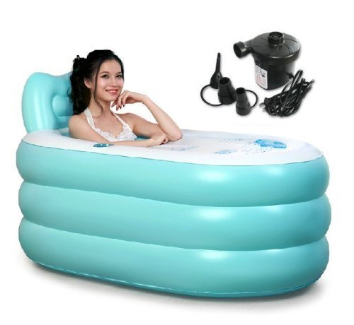 Back to 20s Adult Inflatable Bath Tub (Blue, Large) by Back to 20s