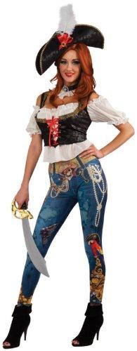 Rubie's Women's Pirate Booty Costume, Blue/White/Black, Large ()