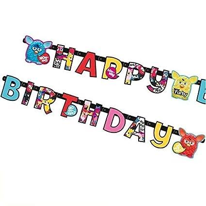 ALMACENESADAN 2498; Guirnalda Feliz cumpleaños Furby; Ideal ...