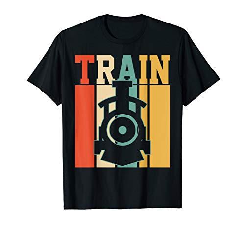 Retro Train Lover Gift T-Shirt Model Trains Addicted Tee