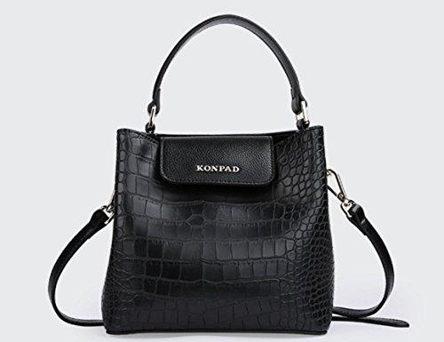 Borsa Casual Pinchu Black Donna Secchiello In Con Coccodrillo black Tracolla Da A U7ffqa