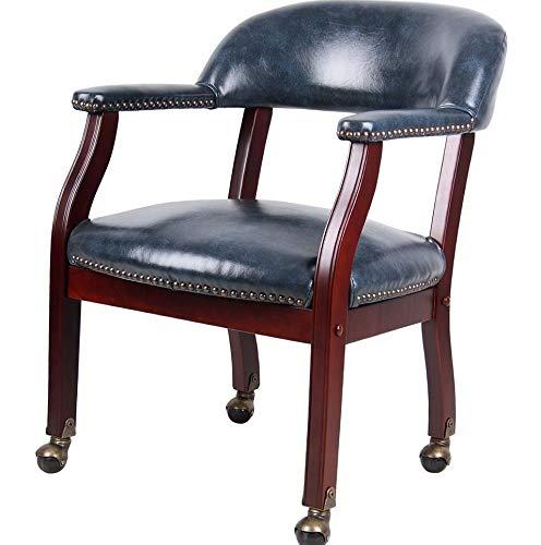 Monowi Captains Monowi Chair in Blue Vinyl W/Casters | Model CHRS - 143 |