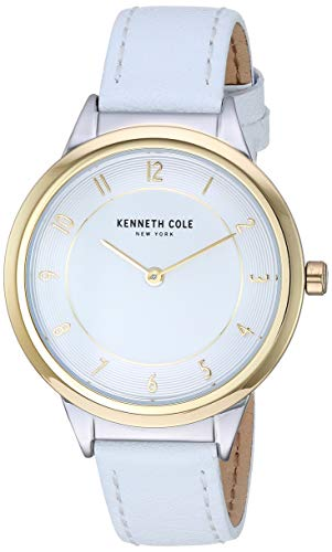 Kenneth Cole New York Female Stainless Steel Quartz Watch with Leather Strap, White, 14 (Model: KC50795004)