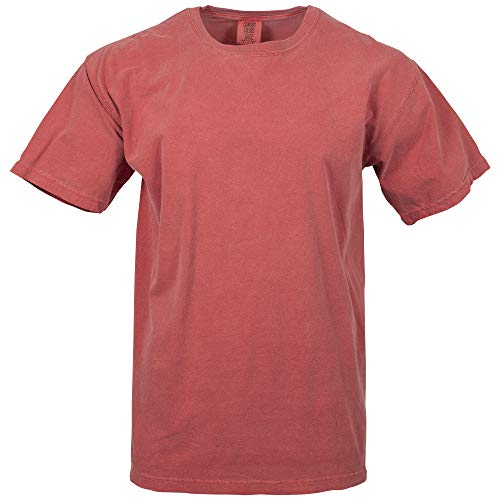 Comfort Colors Men's Adult Short Sleeve Tee, Style 1717, Crimson, 3X-Large
