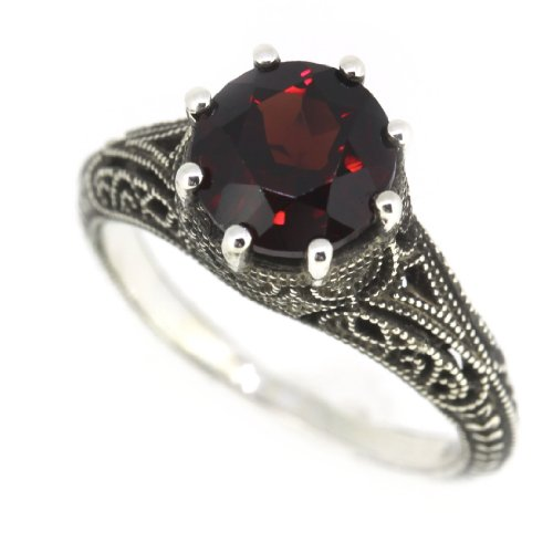 antique-finish-filigree-sterling-silver-round-cut-natural-mozambique-garnet-ring-25-cttw-7