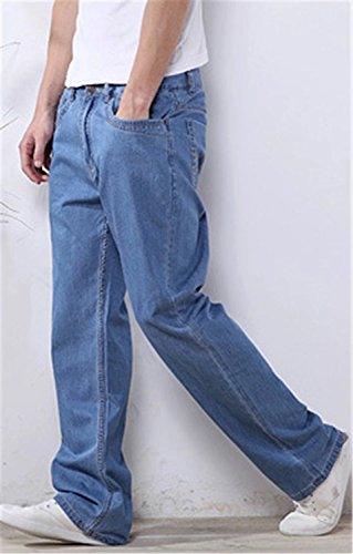 EMAOR Mens Big and Tall Denim Pants Straight Leg Jeans Plus Size by EMAOR Mens (Image #1)