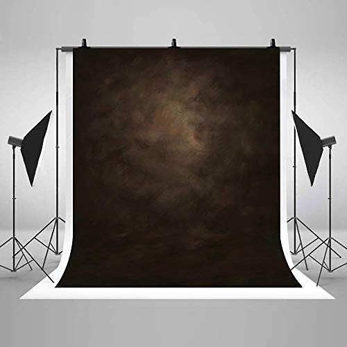 COMOPHOTO Old Master Brown Background for Photography Abstract Texture Backdrop for Portrait Photography Studio Props for Photographer Children Adults Head Shots