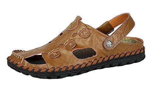 de cuero libre oscuro sandalias sandalias para verano marrón aire deporte Icegrey hombre al tgqSwxfTnI