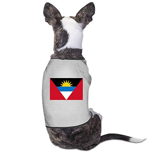 RSADGER Pet Clothing Flag of Antigua and Barbuda Printed T Shirts Dogs Summer Vest Puppy Pet -