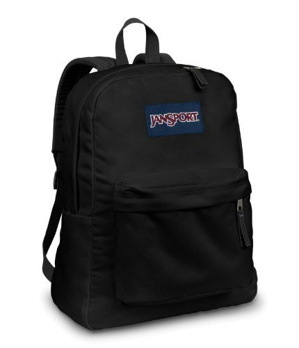 Jansport Backpack Superbreak Black 51353 (Jansport Backpack Side)