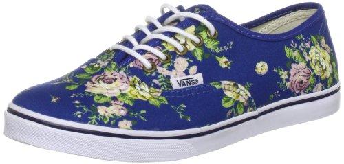 Vans Authentic Lo Pro Kvinners Sko Floral Blå / Ekte Hvit.