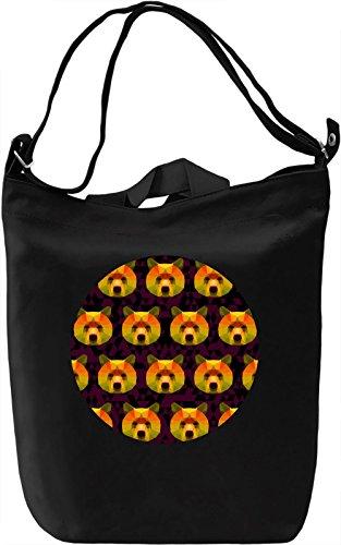 Origami Bears Borsa Giornaliera Canvas Canvas Day Bag| 100% Premium Cotton Canvas| DTG Printing|