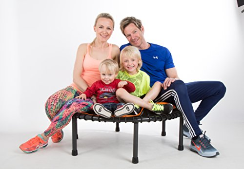 FIT BOUNCE PRO II – Top Seller - Half Folding Very Quiet Bungee Sprung Mini Trampoline with DVD, Storage Bag & Bounce counter!